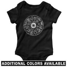 Zodiac One Piece - Baby Infant Creeper Romper NB-24M - Astrology Signs Circle