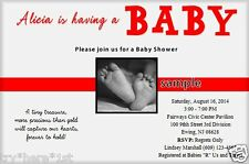 Baby Shower Invitations Personalized, Baby Girl or Baby Boy