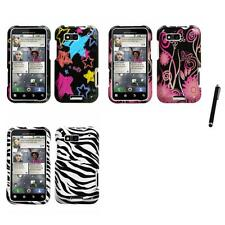 For Motorola Defy MB525 Design Snap-On Hard Case Phone Cover Stylus Pen