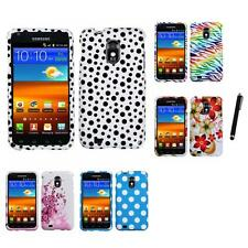 For Samsung Epic Touch 4G D710 Design Snap-On Hard Case Phone Cover Stylus Pen