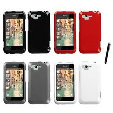 For HTC Rhyme / Bliss Rigid Plastic Hard Snap-On Case Phone Cover Stylus Pen