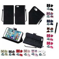 For Apple iPhone 5 Wallet Case Pouch With ID Card Pocket Slots Stylus Pen