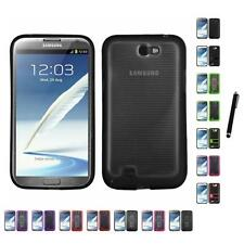For Samsung Galaxy Note 2 N7100 TPU Hard Case Skin Phone Cover Stylus Pen