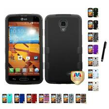 For LG Volt LS740 Hybrid TUFF IMPACT Phone Case Hard Rugged Cover Stylus Pen