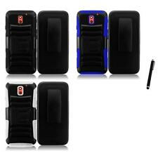 For HTC Desire 610 Heavy Duty Rugged Stand Belt Clip Holster Case Stylus Pen