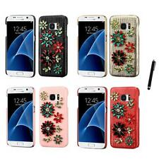 For Samsung Galaxy S7 Diamond Diamante Bling Rhinestone Case Cover Stylus Pen