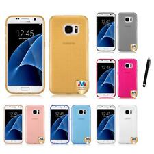 For Samsung Galaxy S7 TPU Spots Rubber Skin Case Phone Cover Stylus Pen