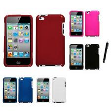 For Apple iPod Touch 4th Gen Rigid Plastic Hard Snap-On Case Cover Stylus Pen