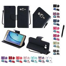 For Samsung Galaxy On5 Wallet Case Pouch With ID Card Pocket Slots Stylus Pen