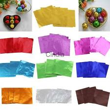 Hot 100pcs Square Candy Paper Sweets Chocolate Lolly Foil Wrappers Confectionary