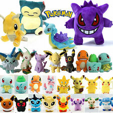 Cute Pokemon Pikachu Eevee Squirtle Bulbasaur Plush Stuffed Toy Gifts Kids Toys