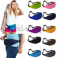 Unisex Sport Bum Bag Fanny Pack Travel Waist Money Belt Zip Pouch Wallet Bumbags