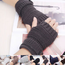 Wrist Arm Hand Warmer Mittens Men Women Fashion Knitted Fingerless Winter Gloves