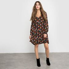 R Edition Womens Floral Print Floaty Dress