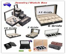1~12 Grids Leather Aluminium Watch Jewelry Storage Holder Case Box Organizer GN
