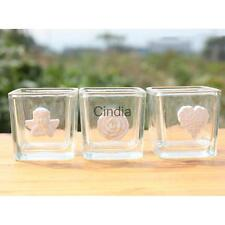 Clear Glass Votive Candle Tea Light Holders Cup Glued