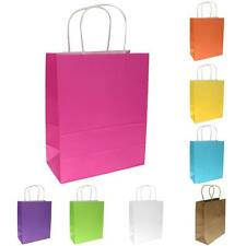 10Pcs Kraft Paper Party Gift Bags Wedding Christmas Outdoor Shopping Handle Bag