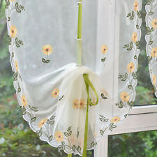 Home Voile Door Window Curtain Room Sheer Drape Panel Floral Scarf Sheer Valance