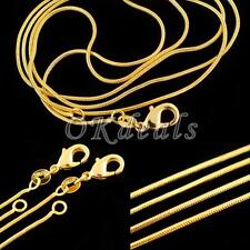 1.2 Mm DIY 16-30 Inch Snake Chain Necklace Jewelry 18K Yellow Gold Filled