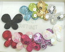 20 Padded Felt Butterfly Sequin Appliques A009  U PICK