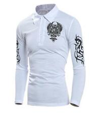 Luxury Mens T-Shirts O-Neck Long Sleeve Polo Shirt Pullover Casual T-Shirts Tops