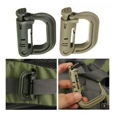 Molle Shackle Locking Carabiner Clip KeyRing D-Ring