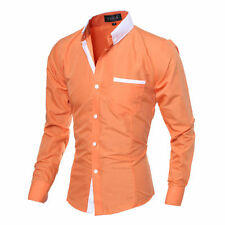 Mens Shirts Long Sleeve T Shirts Formal Dress Casual Slim Fit Shirts Tops