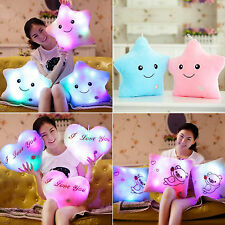 Romantic Glowing LED Pillow 7 Color Light Up Soft Relax Cushion Bolster Toy Gift