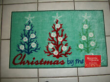 Tropical Sea Ocean Plant Life XMas by the Sea Latex Back Pool Door Rug Floor Mat