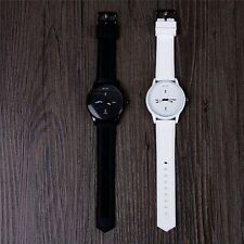White Lovers Jelly Wrist Watches Quartz Large Dial Soft Silicone Strap Band
