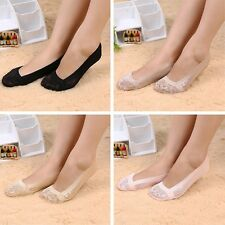 Casual Cotton Ladies Invisible Liner No Show Antiskid Lace Low Cut Socks