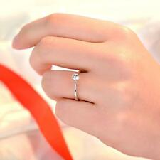 Wedding Charming Adjustable Ring Silver Plated Six Claw Zircon