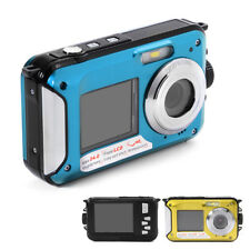 Waterproof 24MP Dual LCD Screen Digital Video Camera Camcorder Underwater Diving