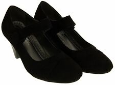 Womens Annabelle Mid Heel Faux Suede Mary Jane Court Shoes Sz Size 3 4 5 6 7 8