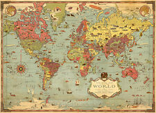 Vintage Map - Mercator Map of the World 1931