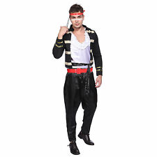 1980s Mens Adam Ant Prince Charming Fancy Dress Costume Pop Star Romantic Stag