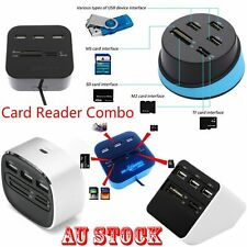 Practical MS/SD/M2/TF Memory Card Reader Combo High Speed 3 Ports USB 2.0 HUB P6