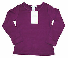 Girls Ex H&M Long Sleeve T-Shirt Top Organic Cotton Purple Age 1 to 6 Years Kids