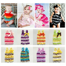 Baby Infant Girls Lace Ruffles Romper Jumpsuit Dress One-piece Outfits Playsuit