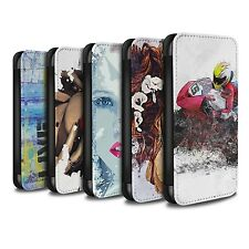 STUFF4 PU Leather Case/Cover/Wallet for Samsung Galaxy J3/Fragments
