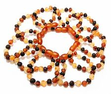 Wholesale Lot of 5 10 Genuine Baltic Amber Round Beads Baby Anklet Bracelet
