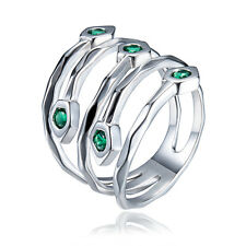 New Rings 925 Sterling Silver Fashion Peacock tail shape CZ Women Wedding Gift