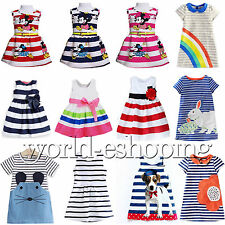 Lovely Kids Baby Girls Dress Striped Princess Party Casual Dresses Tunic Top New