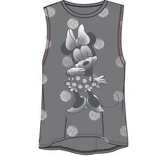 Disney Womens Fashion Muscle Tank Just Minnie Mouse Gray