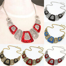 All New Jewelry Vintage Retro Allmen Chain Pendant Statement Choker Bib Necklace
