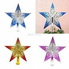 Glitter Bling Christmas Tree Star Topper Ornament DIY Decoration Xmas Decor Star