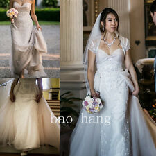 Detachable Wedding Dresses Beaded Appliques Bridal Gown Sweetheart New Strapless