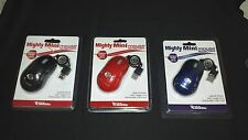 Digital Treasures Mighty Mini Mouse- Retractable ( Red - Black or Blue )