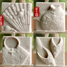 Soap Mold Silicone Craft Cheongsam Bird Soap Making Mould DIY Candle Resin Mold