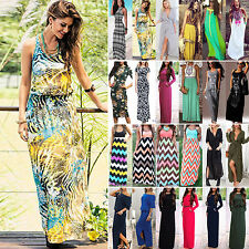 Sexy Womens Long Maxi Dress Evening Party Coacktail Casual Summer Beach Sundress